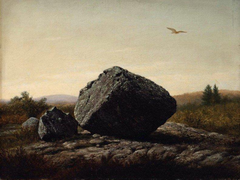 Wandering Boulder 1875 | Thomas Hewes Hinckley | oil painting