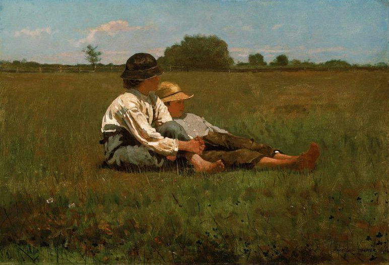 Boys in a Pasture 1874 | Winslow Homer | oil painting