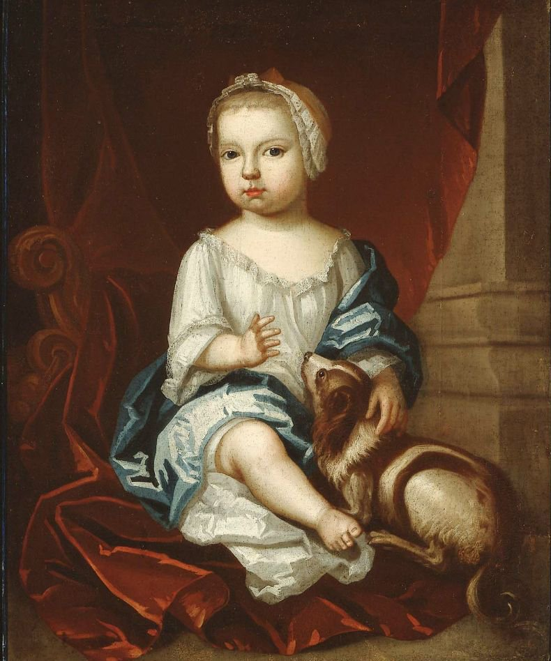 A child of the Pierpont Family 1730s | Unidentified artist | oil painting