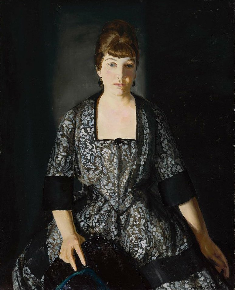 Emma in the Black Print 1919 | George Wesley Bellows | oil painting