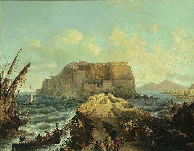 Castello dell Ovo Bay of Naples 1844 | George Loring Brown | oil painting