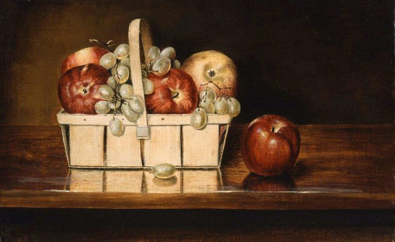 Basket of Fruit 1860 | Rubens Peale | oil painting