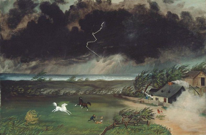 Running Before the Storm 1870 | Unidentified artist | oil painting