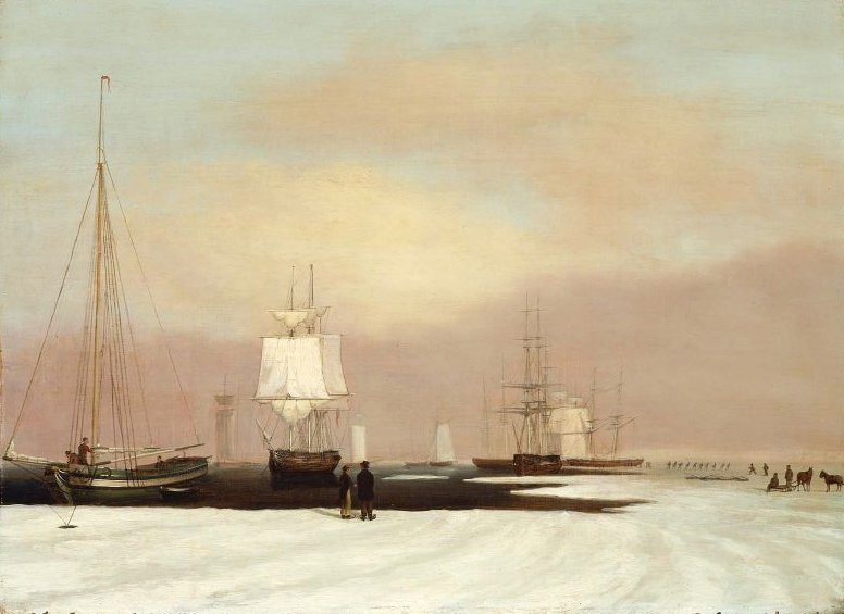 Boston Harbor 1835 | John S Blunt | oil painting