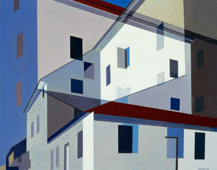 On a Shaker Theme 1956 | Charles Sheeler | oil painting