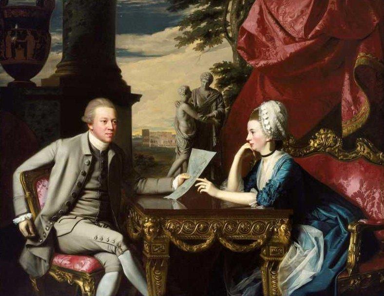 Mr and Mrs Ralph Izard Alice Delancey 1775 | John Singleton Copley | oil painting