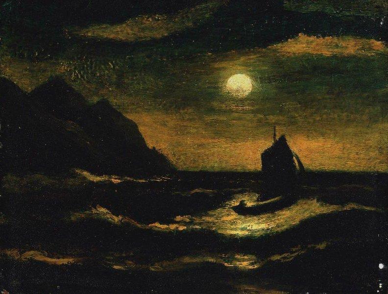 Silver Moon 20th century | Albert Pinkham Ryder | oil painting
