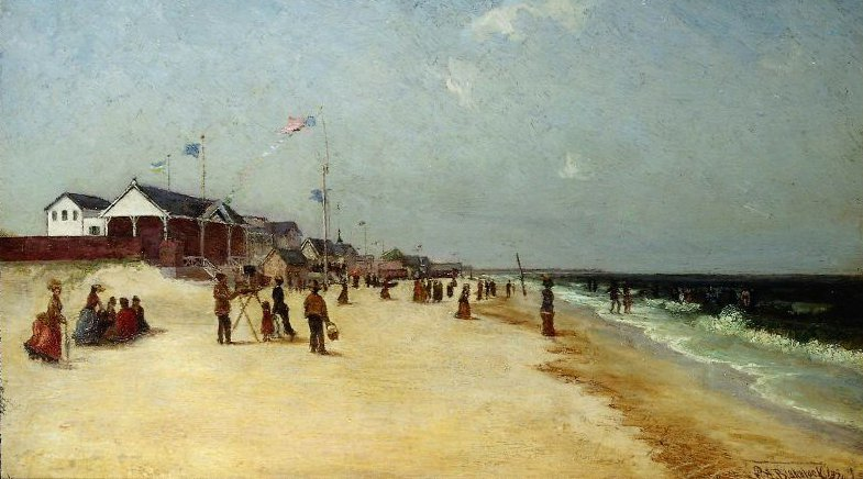 Rockaway Beach Long Island New York 1870 | Ralph Albert Blakelock | oil painting