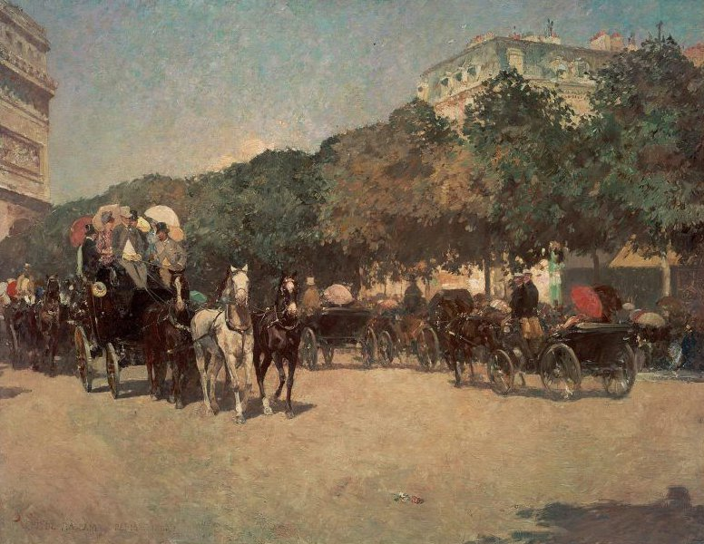 Grand Prix Day 1887 | Childe Hassam | oil painting