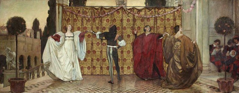 A Pavane 1897 | Edwin Austin Abbey | oil painting