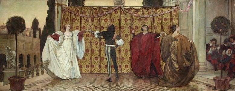 A Pavane 1897 | Edwin Austin Abbey | oil painting
