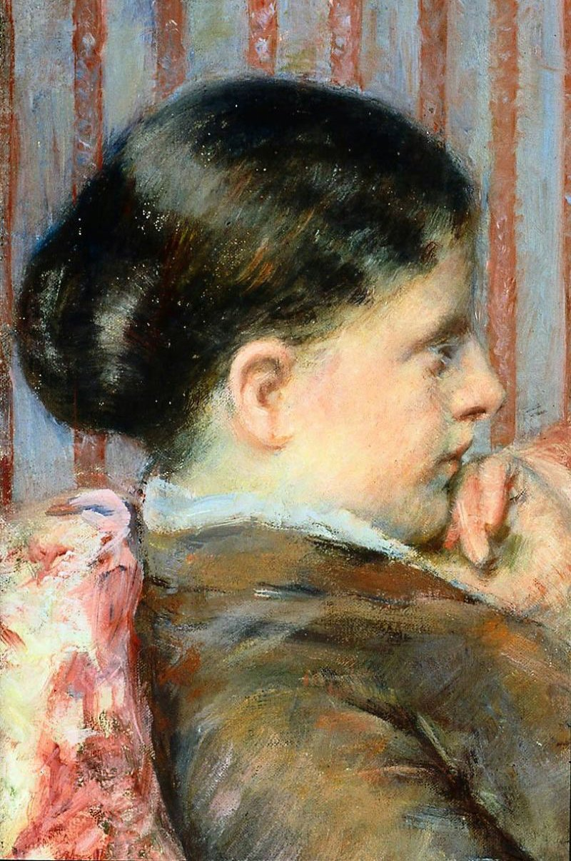 The Tea 1880 | Mary Stevenson Cassatt | oil painting