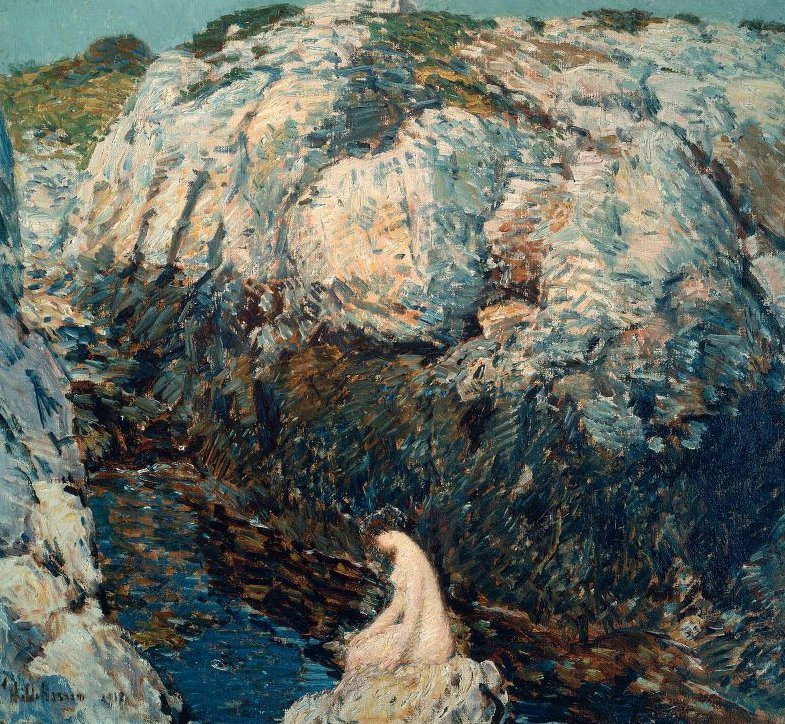 The Lady of the Gorge 1912 | Childe Hassam | oil painting