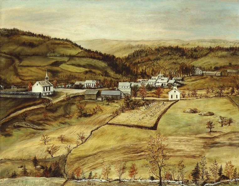 Buckland Massachusetts 1850 1868 | Unidentified artist | oil painting