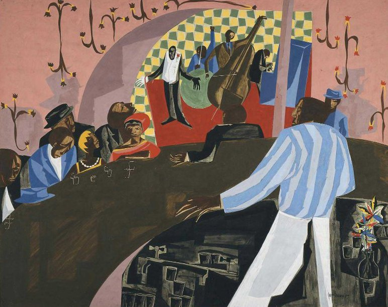 Cafe Comedian 1957 | Jacob Lawrence | oil painting