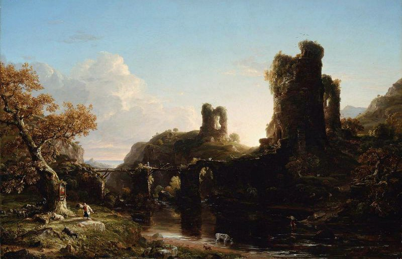An Italian Autumn 1844 | Thomas Cole | oil painting