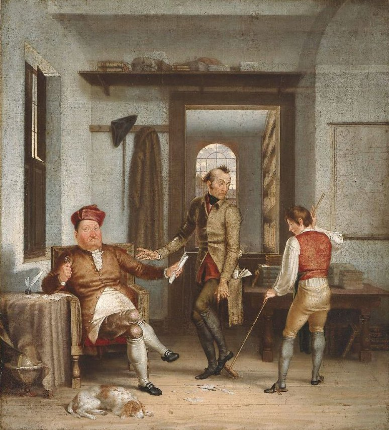 The Poor Author and the Rich Bookseller 1811 | Washington Allston | oil painting