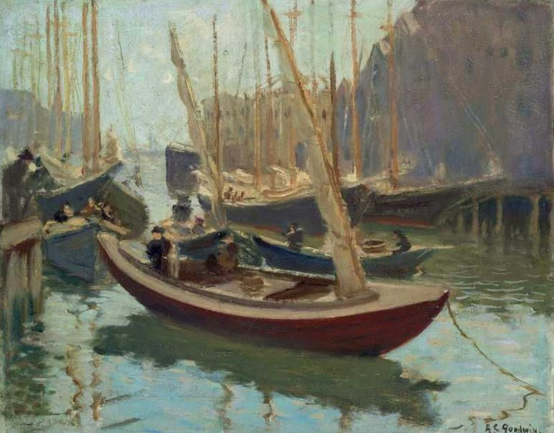 Boats at T Wharf 1915 | Arthur Clifton Goodwin | oil painting
