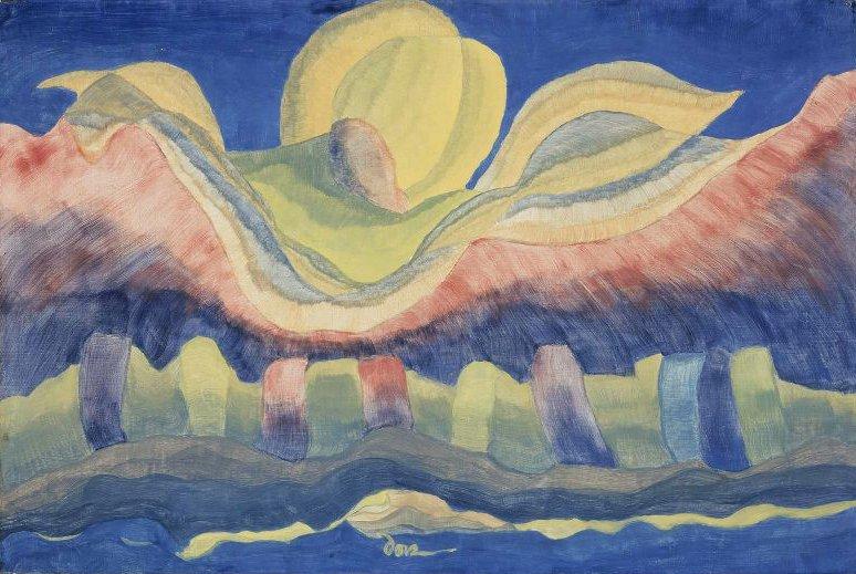 Rising Moon 1941 | Arthur Garfield Dove | oil painting