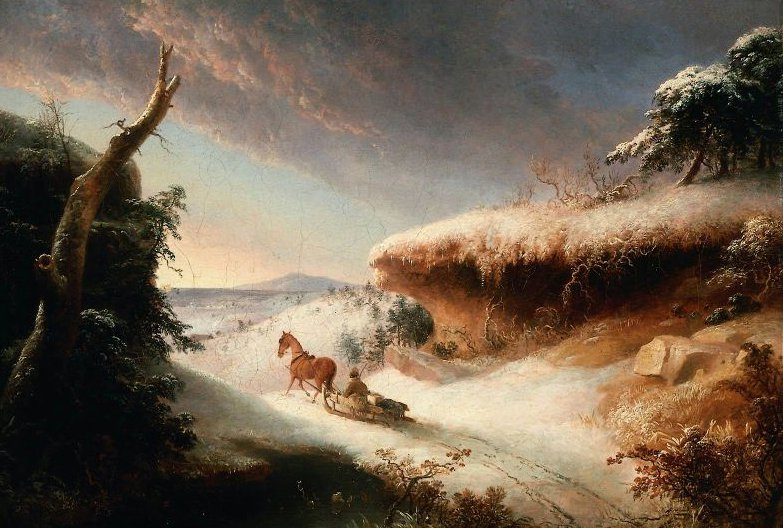 Winter Landscape 1830 | Thomas Doughty | oil painting