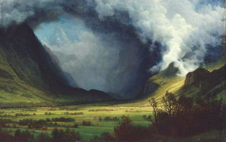 Storm in the Mountains 1870 | Albert Bierstadt | oil painting