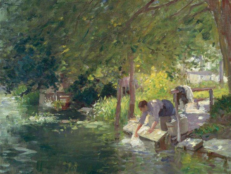 La Blanchisseuse 1890 | Frederic Porter Vinton | oil painting