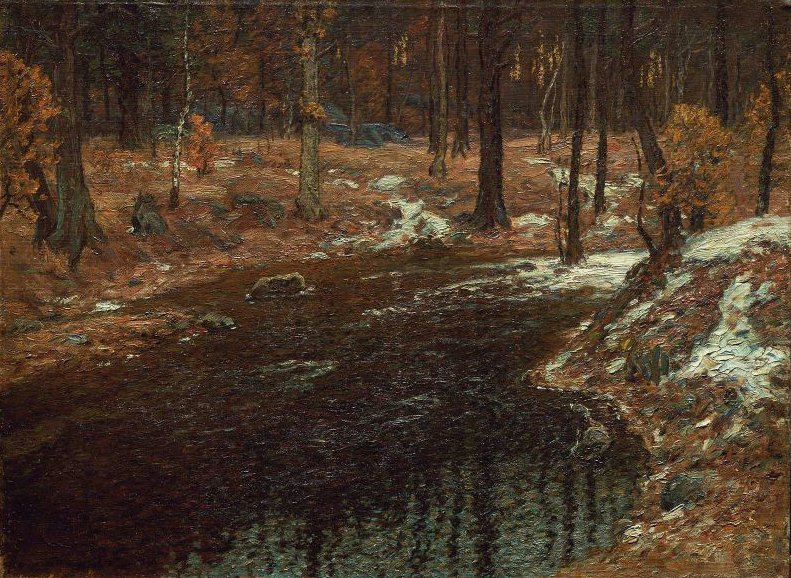 Breaking Up of Winter 1904 | John Joseph Enneking | oil painting