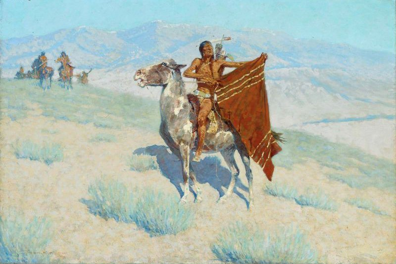 The Blanket Signal 1909 | Frederic Remington | oil painting