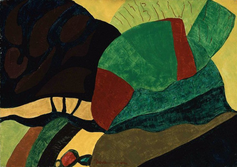Formation III Green Landscape 1942 | Arthur Garfield Dove | oil painting