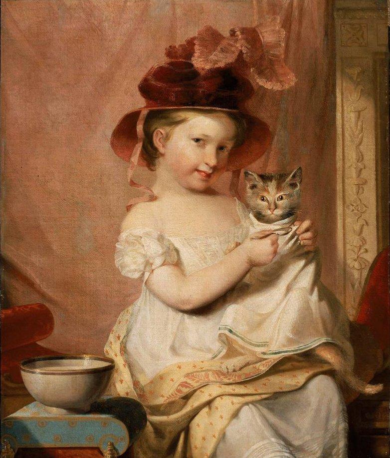 Little Miss Hone 1824 | Samuel Finley Breese Morse | oil painting
