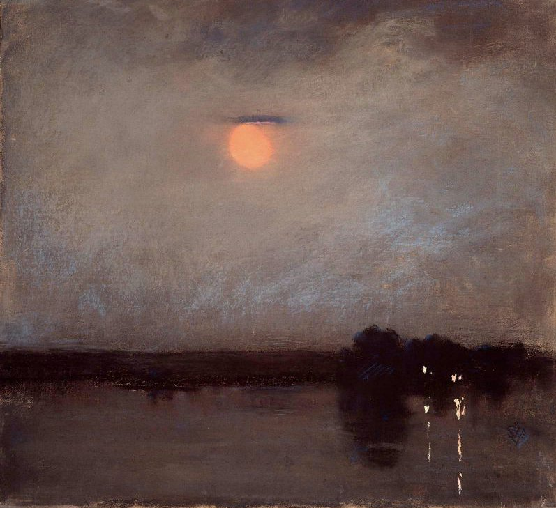 A Warm Night 1889 | Sarah Wyman Whitman | oil painting