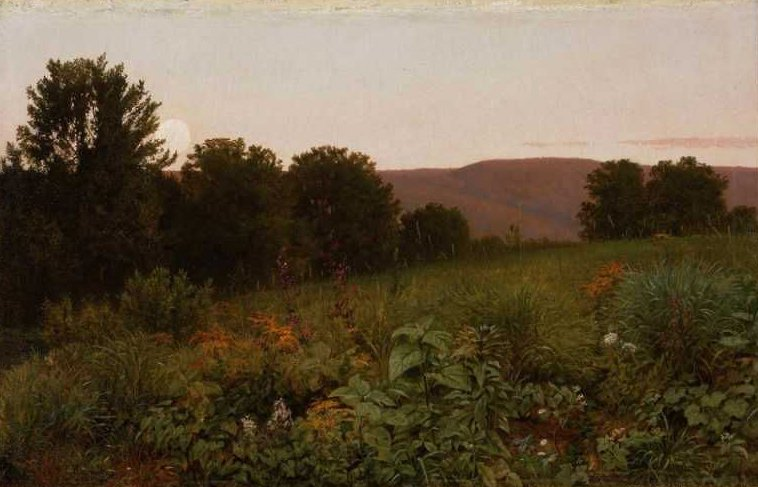 Sunset on the Meadow 1861 | William Trost Richards | oil painting