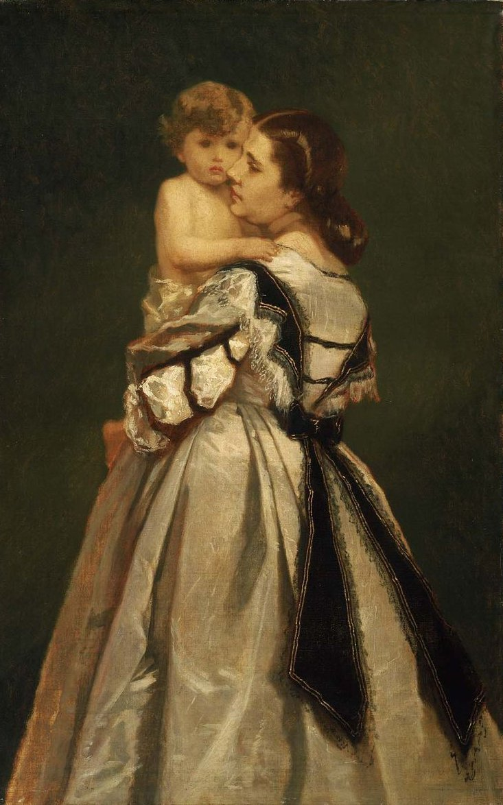 Mother and Child 1865 | William Morris Hunt | oil painting