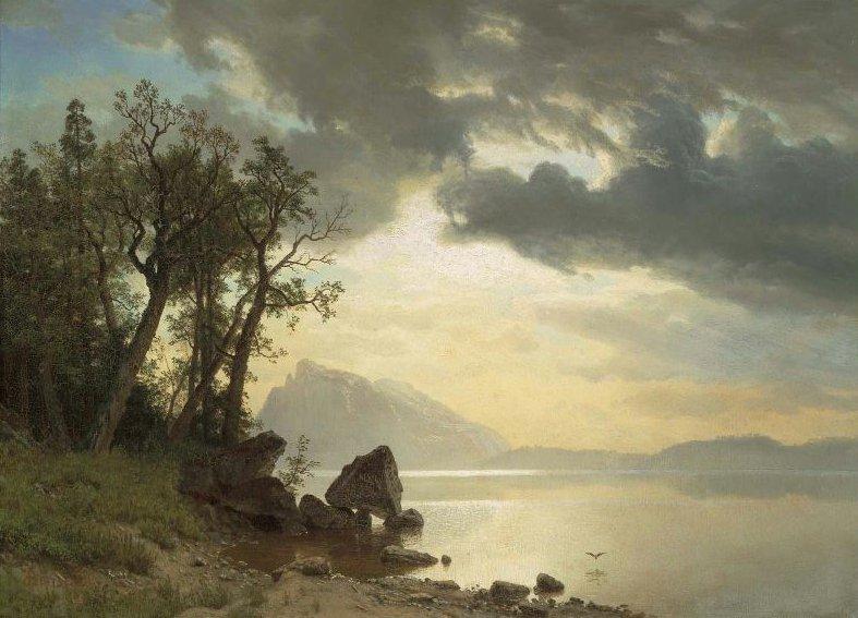 Lake Tahoe California 1867   Albert Bierstadt   oil painting