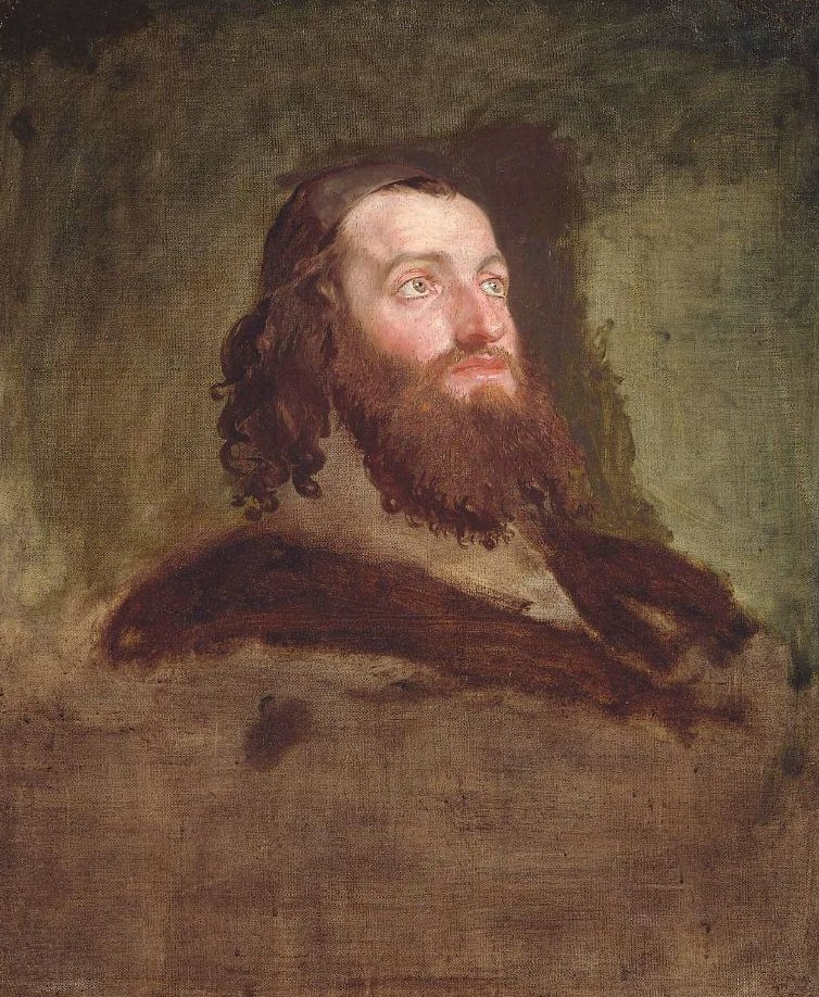 Head of a Jew 1817 | Washington Allston | oil painting