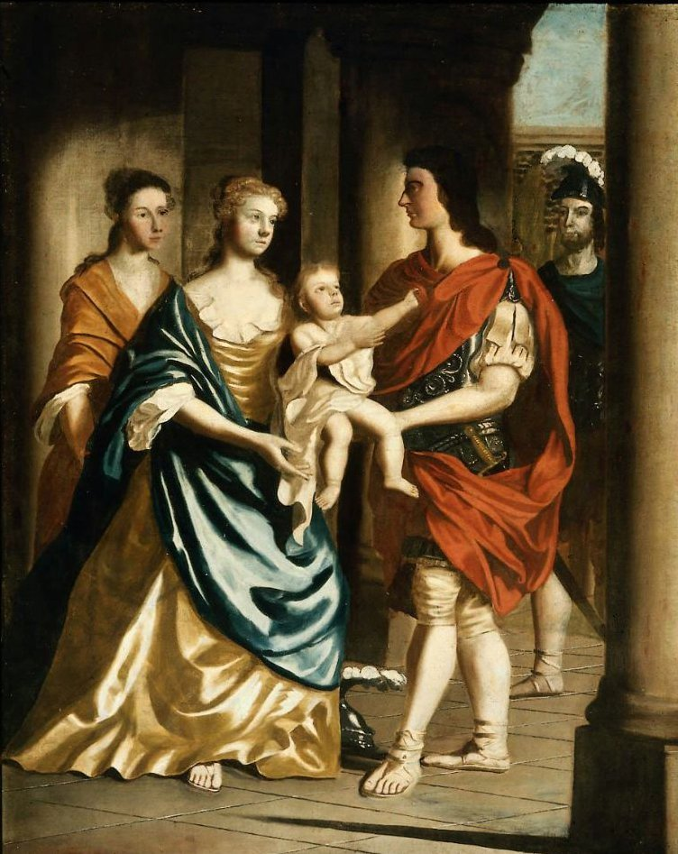 Parting of Hector and Andromache 1750 | John Smibert | oil painting