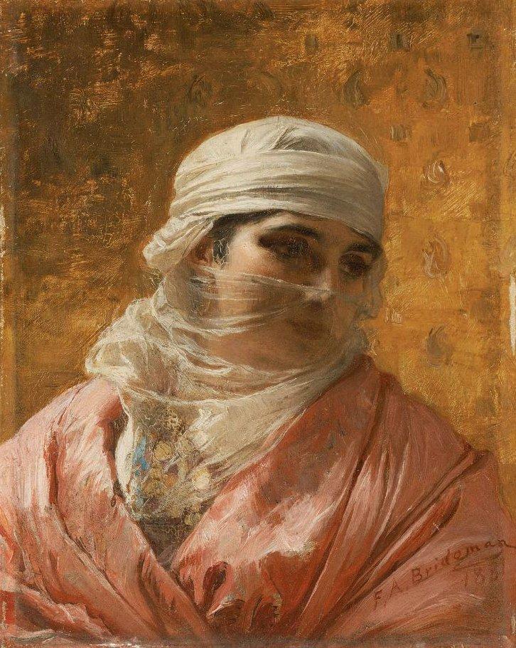 A Circassian 1881 | Frederick Arthur Bridgman | oil painting