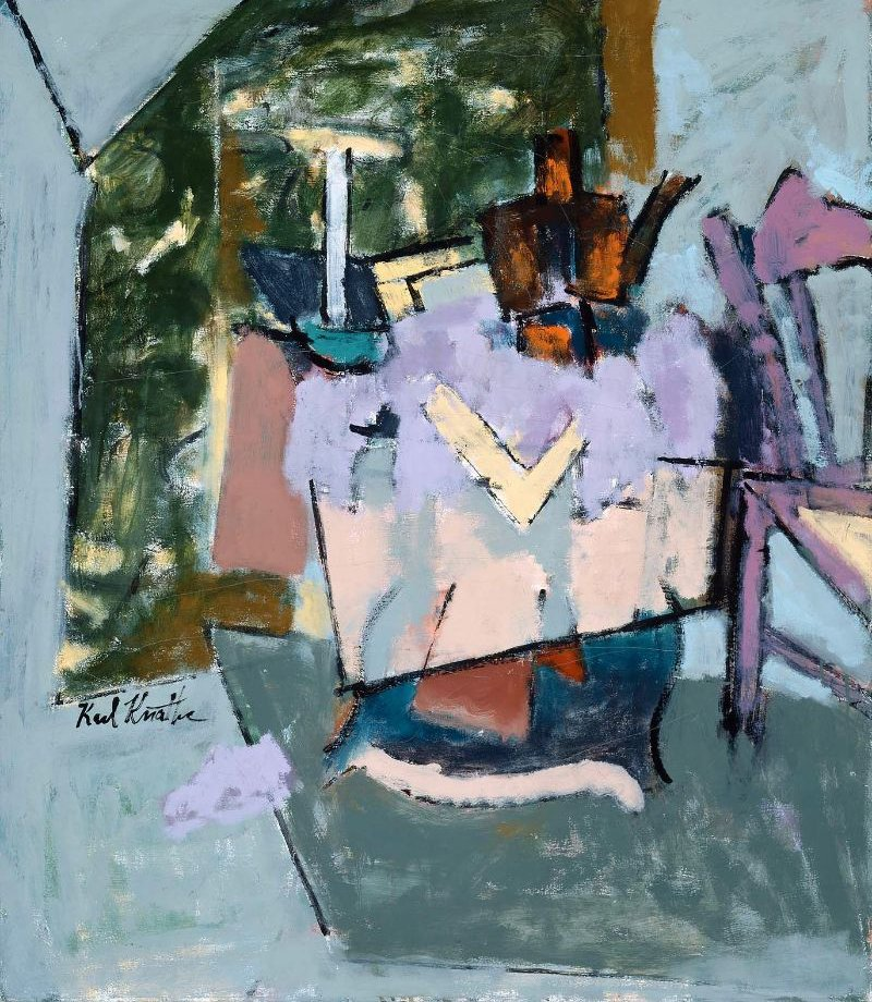 Victorian Table 1962 | Karl Knaths | oil painting