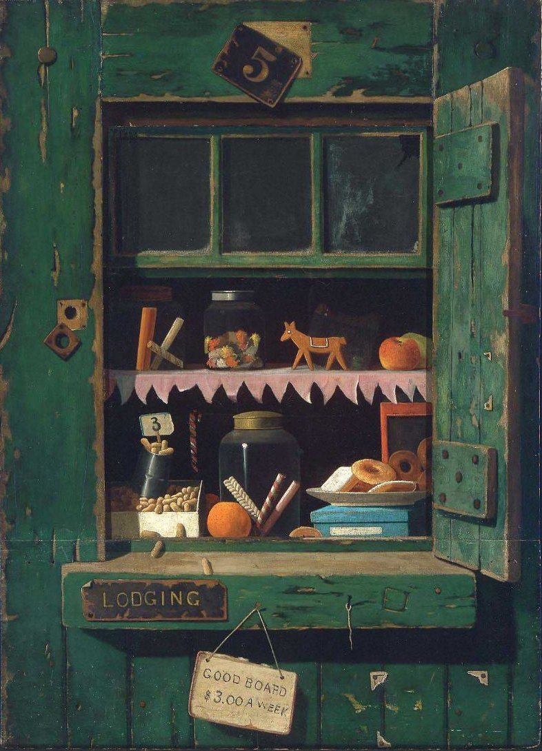 The Poor Mans Store 1885 | John Frederick Peto | oil painting