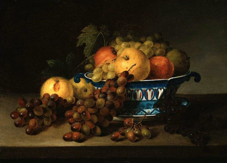 A Porcelain Bowl with Fruit 1830 | James Peale | oil painting