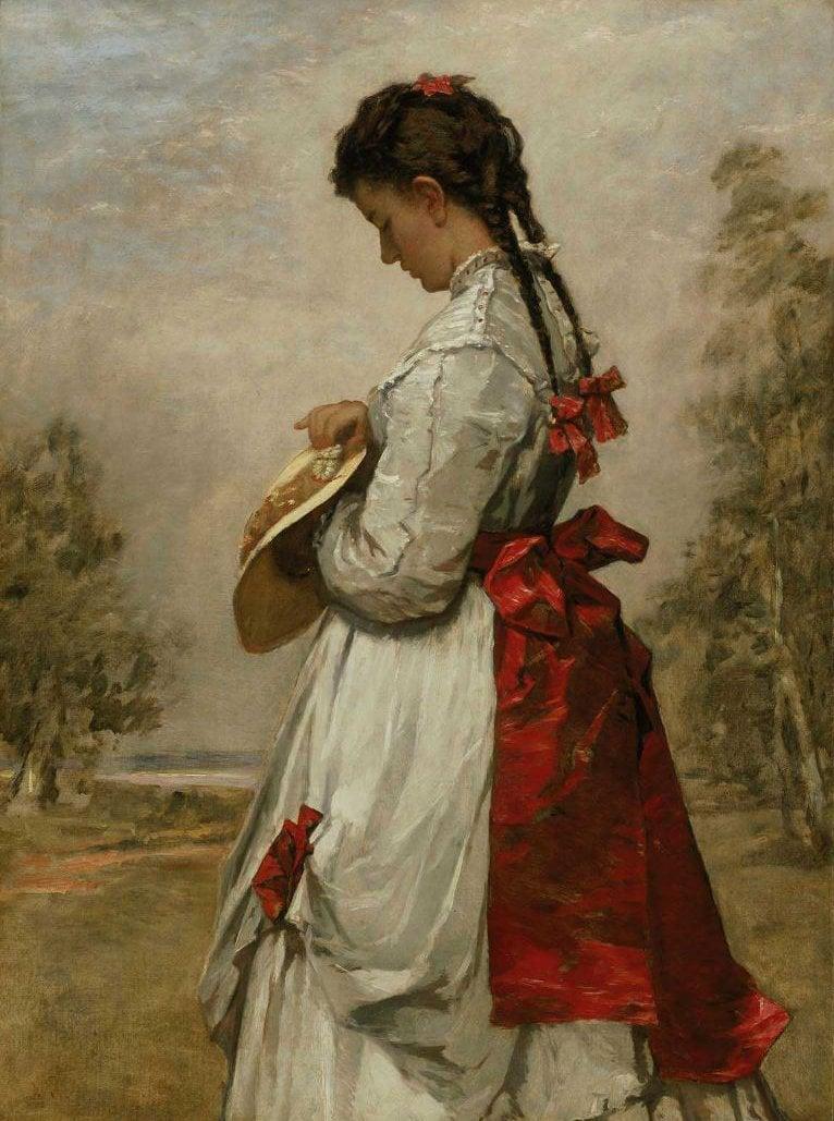 Marguerite 1870 | William Morris Hunt | oil painting