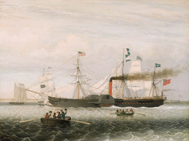 The Britannia Entering Boston Harbor 1848 | Fitz Henry Lane | oil painting