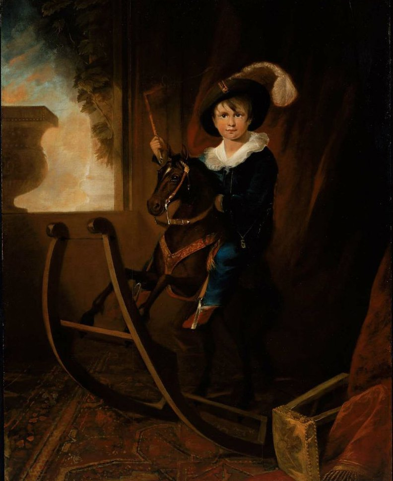 Boy on a Hobby Horse 1815 | Henry Sargent | oil painting