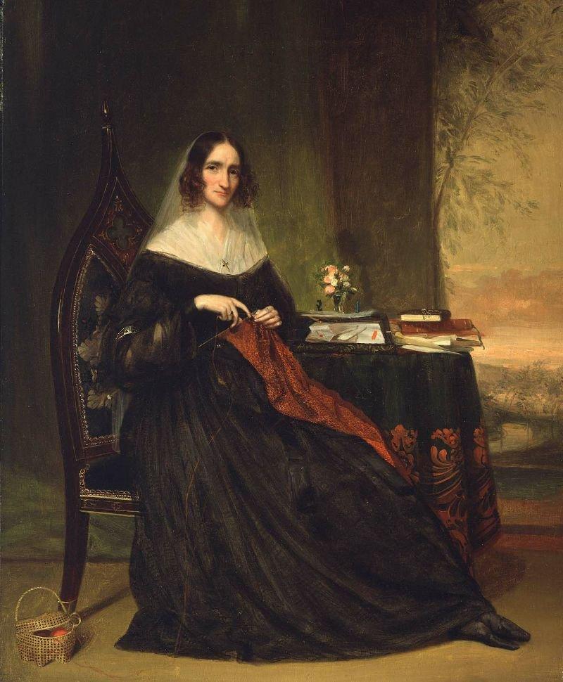 Mrs Abbott Lawrence Katherine Bigelow 1855 | Chester Harding | oil painting