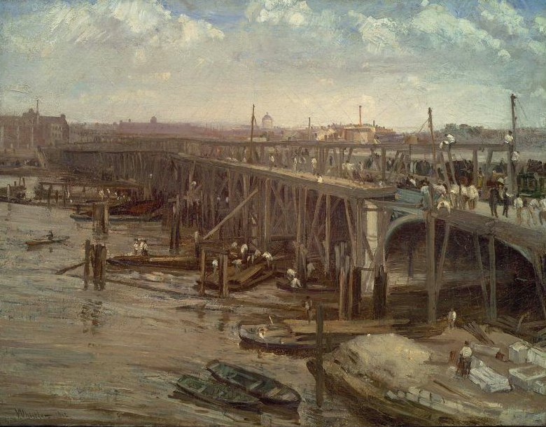 The Last of Old Westminster 1862   James Abbott McNeill Whistler   oil painting