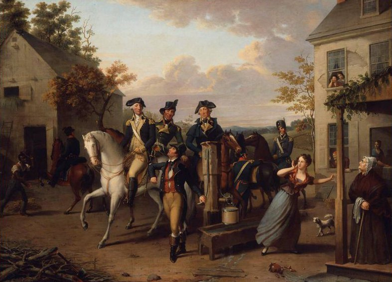 An Incident of the Revolution 1831 | Jacob Eichholtz | oil painting