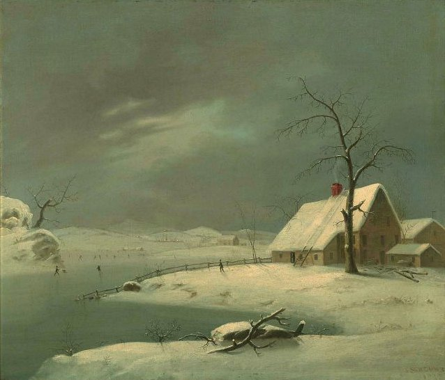 Winter Scene 1828 | John S Blunt | oil painting