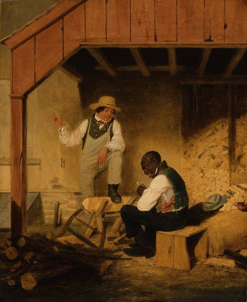 In the Woodshed 1838 | James Goodwyn Clonney | oil painting