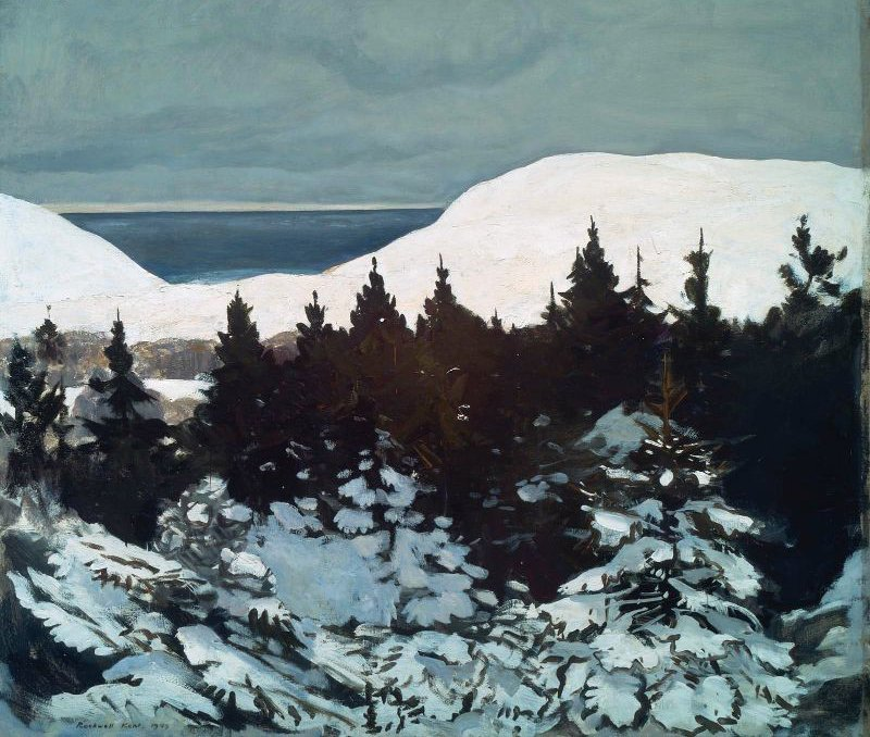 Maine Coast Winter 1909   Rockwell Kent   oil painting