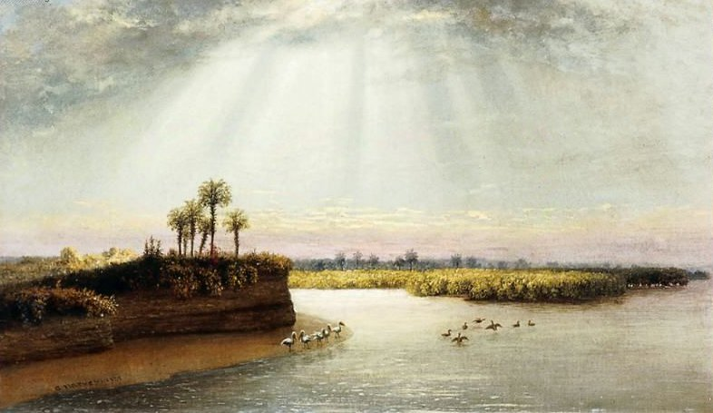 White Pelicans in Florida 1873 | George Harvey | oil painting